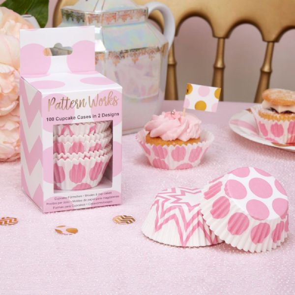 Pattern Works Pink Cupcake Cases (100)